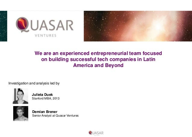 We are an experienced entrepreneurial team focused on building successful tech companies in Latin America and Beyond  Inve...