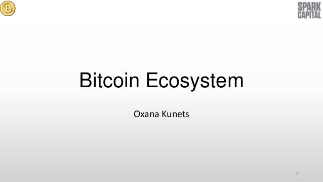 Bitcoin Ecosystem Oxana Kunets  1