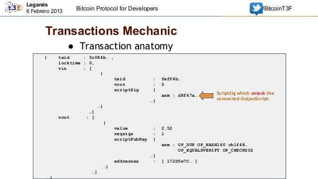 The bitcoin protocol