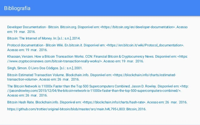 Bitcoin 83 bibliografia developer documentation bitcoin ccuart