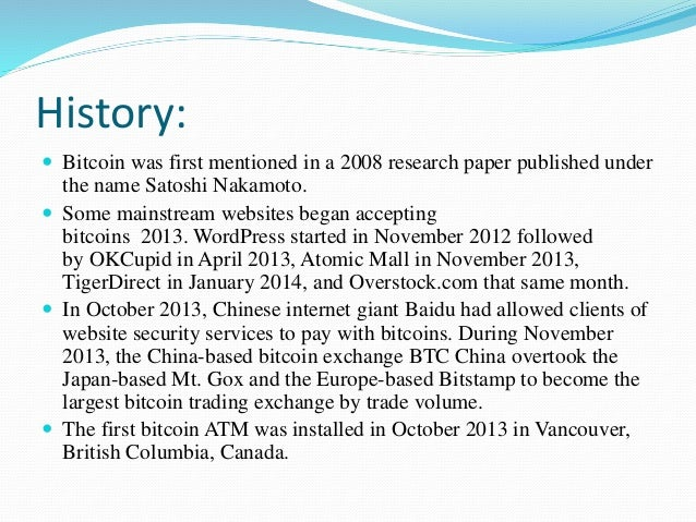 Other bitcoin research papers