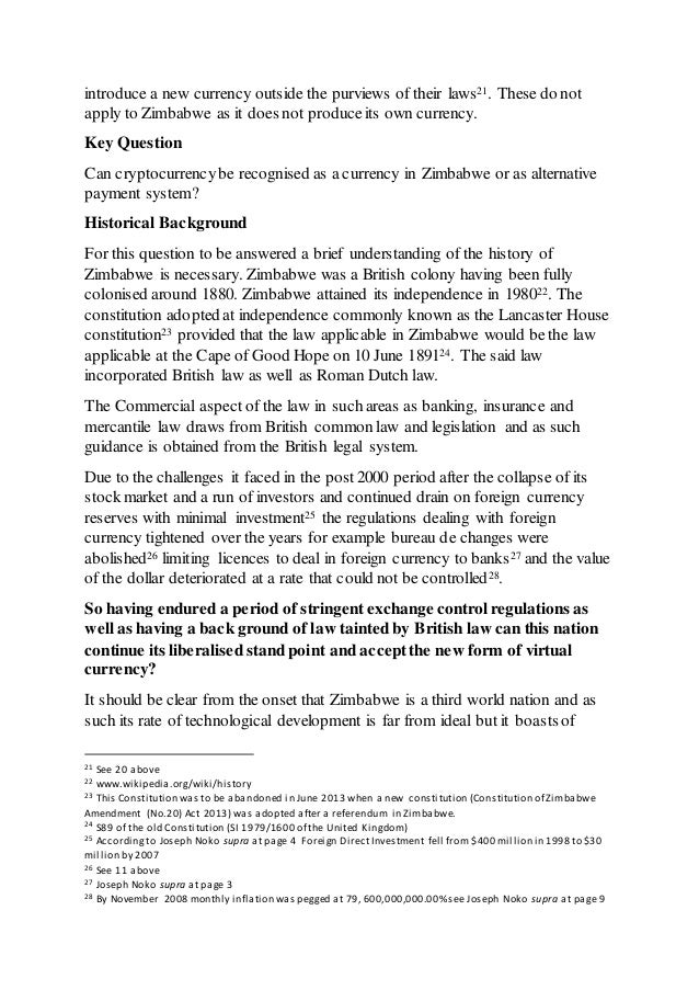 Act Of Producing Units Of Cryptocurrency Zimbabwe Cryptocurrency