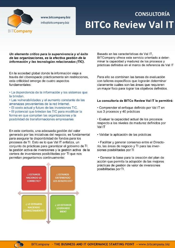 Servicio de Evaluación Val IT 2.0