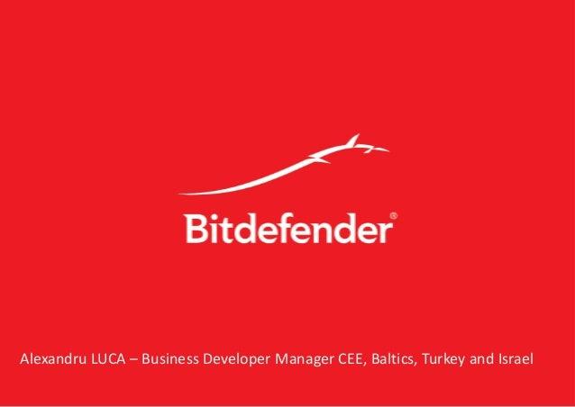 Alexandru LUCA – Business Developer Manager CEE, Baltics, Turkey and Israel