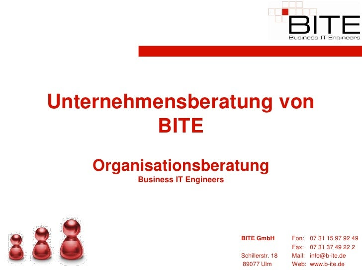 Unternehmensberatung von          BITE     Organisationsberatung          Business IT Engineers                           ...