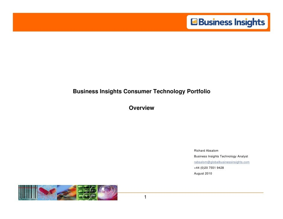 Business Insights Consumer Technology Portfolio                     Overview                                              ...