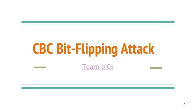 CBC Bit-Flipping Attack Team bi0s 1