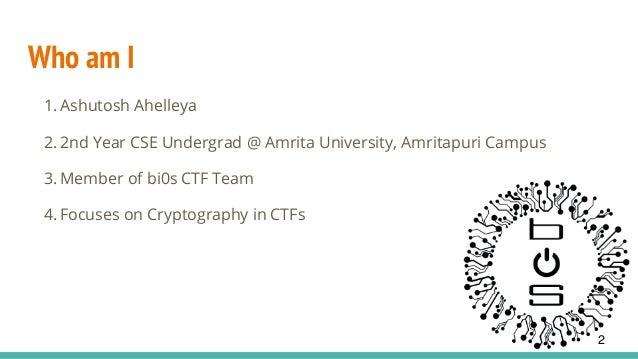 Bit flipping attack on aes cbc -ashutosh ahelleya Slide 2