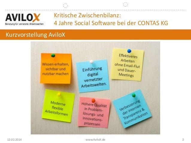 Bitkom 2014: Schöne neue Kollaborationswelt - Eine Kritische Zwischenbilanz 4 Jahre nach der Einführung von Social Software Slide 2
