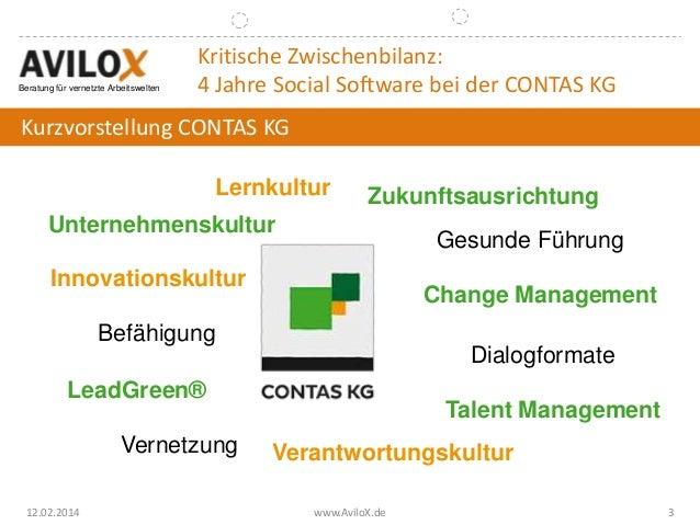 Bitkom 2014: Schöne neue Kollaborationswelt - Eine Kritische Zwischenbilanz 4 Jahre nach der Einführung von Social Software Slide 3