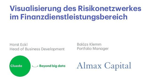 Visualisierung des Risikonetzwerkes im Finanzdienstleistungsbereich Balázs Klemm Portfolio Manager Horst Eckl Head of Busi...