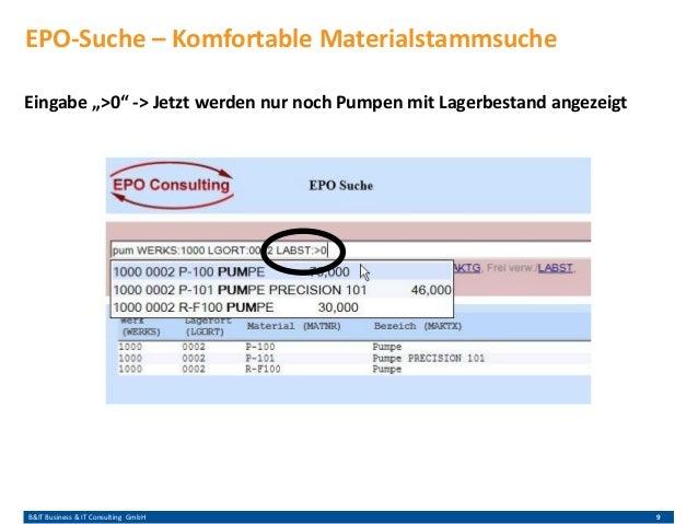 """B&IT Business & IT Consulting GmbH 9 Eingabe """">0"""" -> Jetzt werden nur noch Pumpen mit Lagerbestand angezeigt EPO-Suche – K..."""