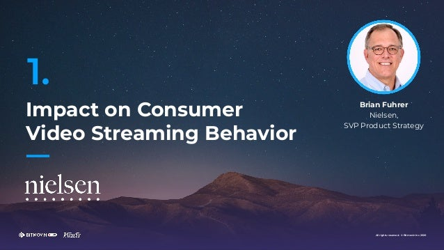 All rights reserved. © Bitmovin Inc 2020 Impact on Consumer Video Streaming Behavior 1. All rights reserved. © Bitmovin In...