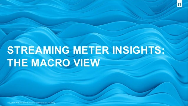 Copyright © 2020 The Nielsen Company. Confidential and proprietary. STREAMING METER INSIGHTS: THE MACRO VIEW