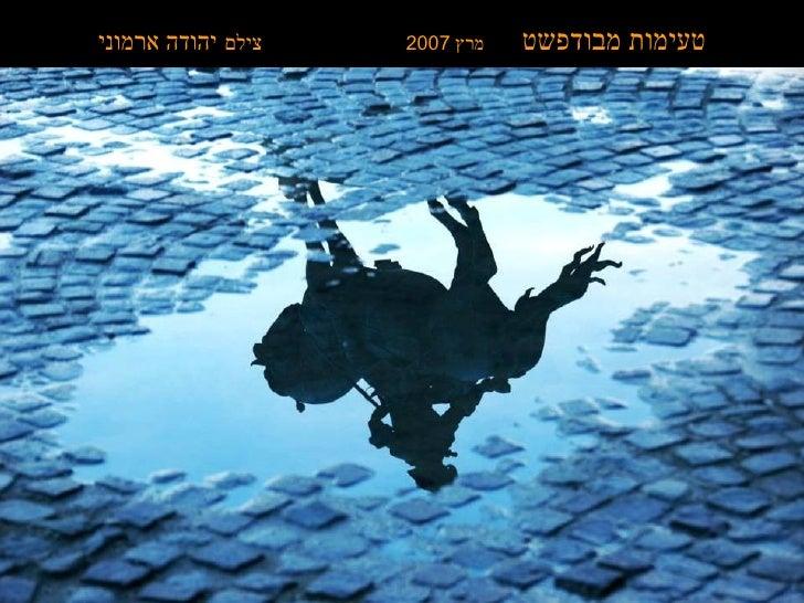טעימות מבודפשט   מרץ  2007  צילם   יהודה ארמוני