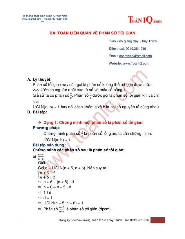 Hệ thống phát triển Toán IQ Việt Nam www.ToanIQ.com – Hotline: 0919.281.916 ---------------------***----------------------...