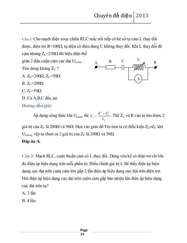 Chuyên đề điện 2013  Câu 1: Cho mạch điện xoay chiều RLC mắc nối tiếp có hệ số tự cảm L thay đổi  được, điện trở R=100Ω, t...