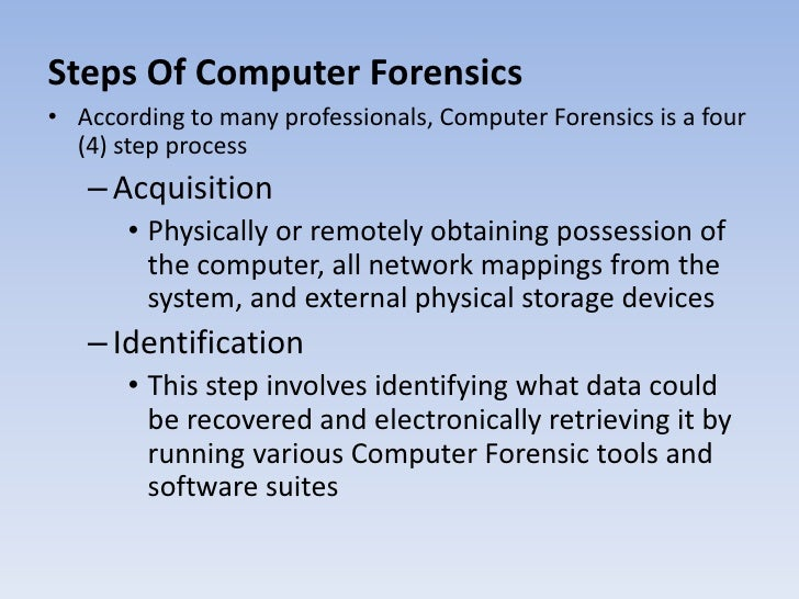 forensic acquisition tools Defined in the test plan for digital data acquisition tools the imager masster solo-4 forensic system is a portable data acquisition device the.