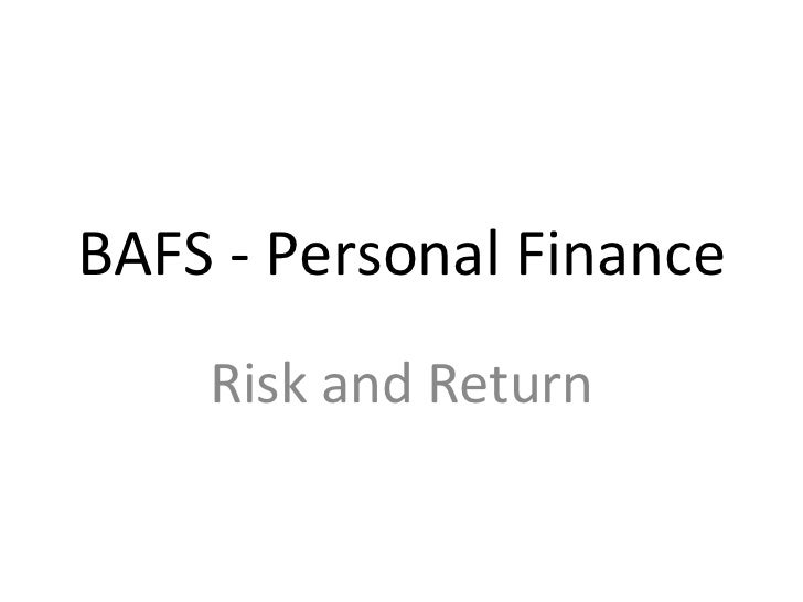 BAFS - Personal Finance Risk and Return