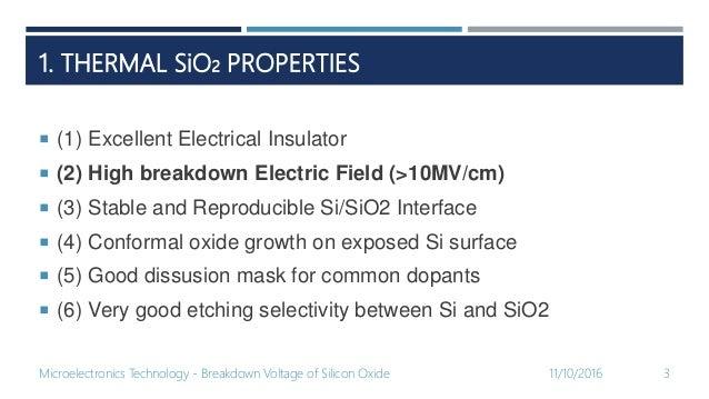 Breakdown Voltage of Silicon Dioxide