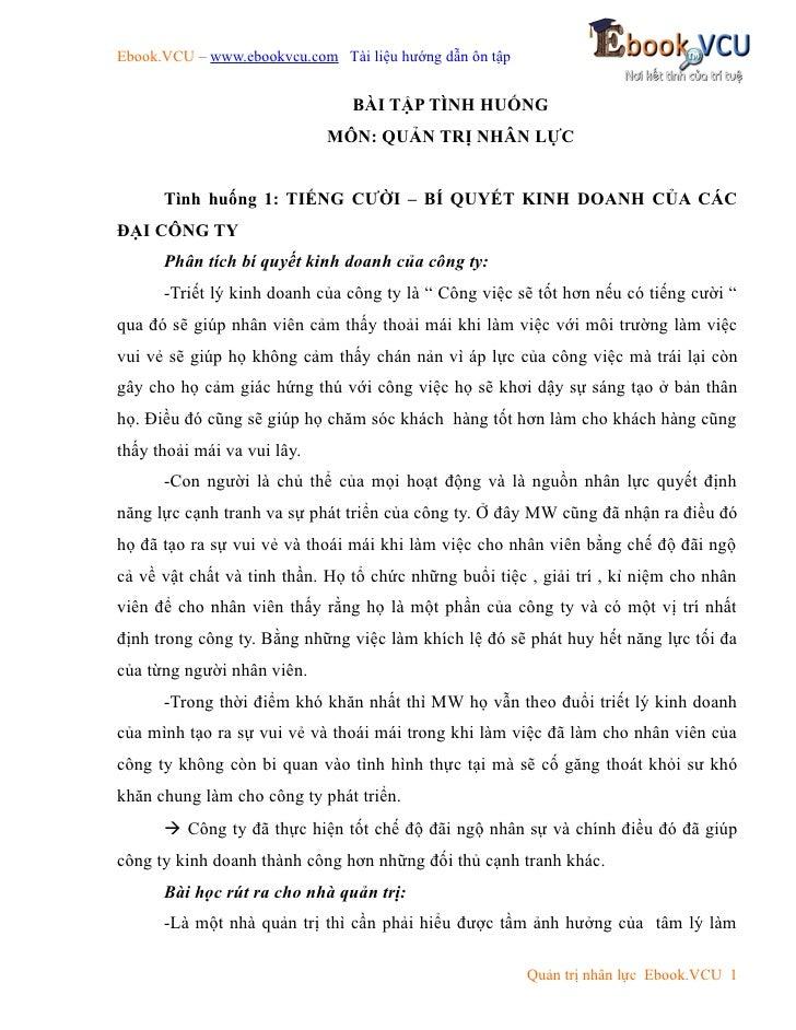 Ebook.VCU – www.ebookvcu.com Tài liệu hướng dẫn ôn tập                                BÀI TẬP TÌNH HUỐNG                  ...