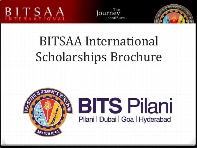 BITSAA International Scholarships Brochure