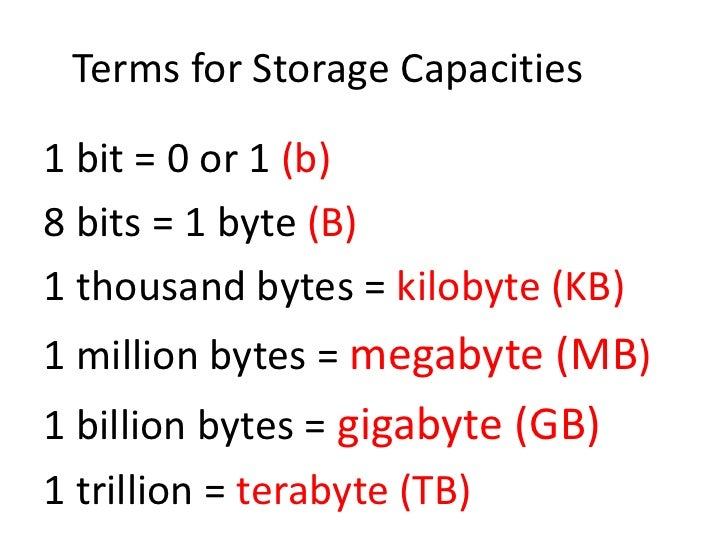 Intro To Bits Bytes And Storage