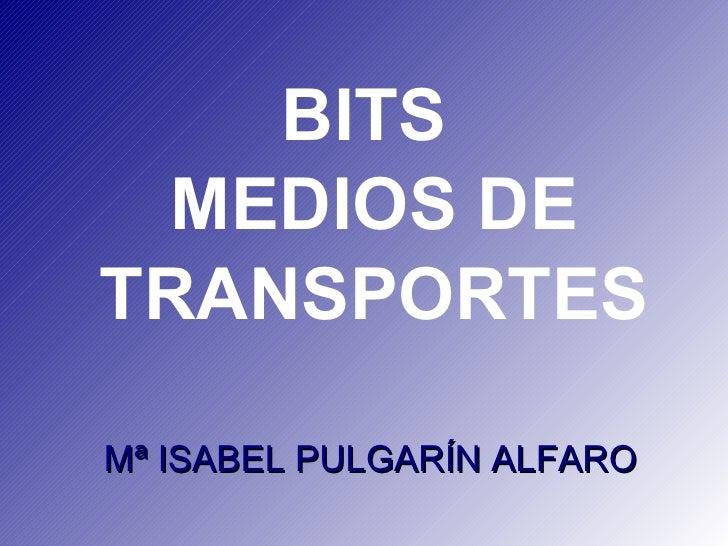 BITS  MEDIOS DE TRANSPORTES  Mª ISABEL PULGARÍN ALFARO