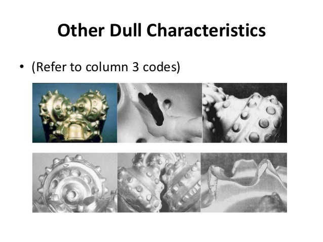Other Dull Characteristics • (Refer to column 3 codes)