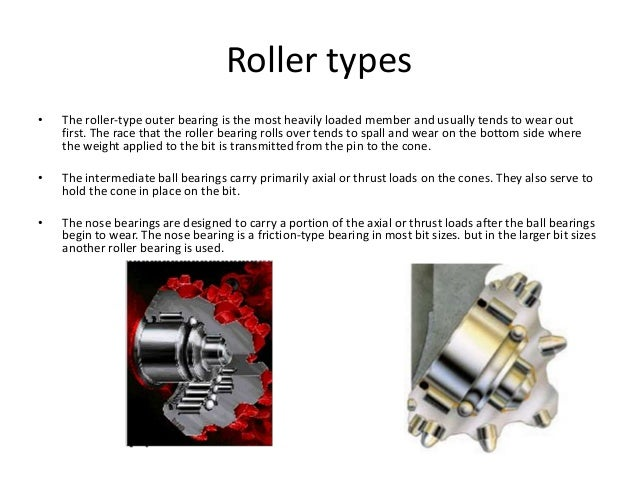 Roller types • The roller-type outer bearing is the most heavily loaded member and usually tends to wear out first. The ra...