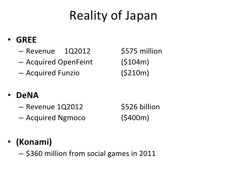 Foreign	  Successes	  in	  Japan	  •  Koreans,	  Chinese,	  Western	  •  Online	  games	         •  Korea:	  Hangame,	  Nc...