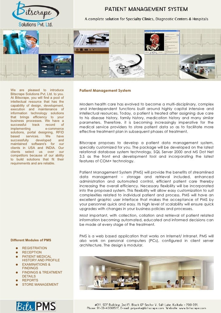 We are pleased to introduce             Patient Management System Bitscrape Solutions Pvt. Ltd. to you. At Bitscrape, you ...