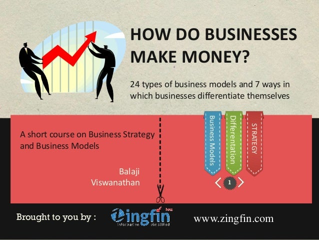 HOW DO BUSINESSES                            MAKE MONEY?                            24 types of business models and 7 ways...
