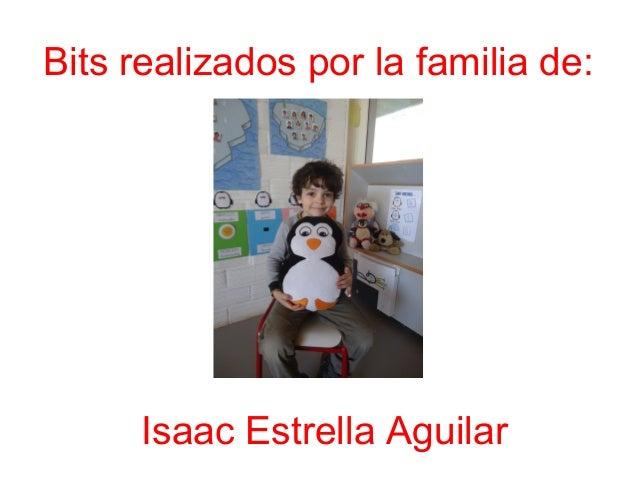 Bits realizados por la familia de: Isaac Estrella Aguilar