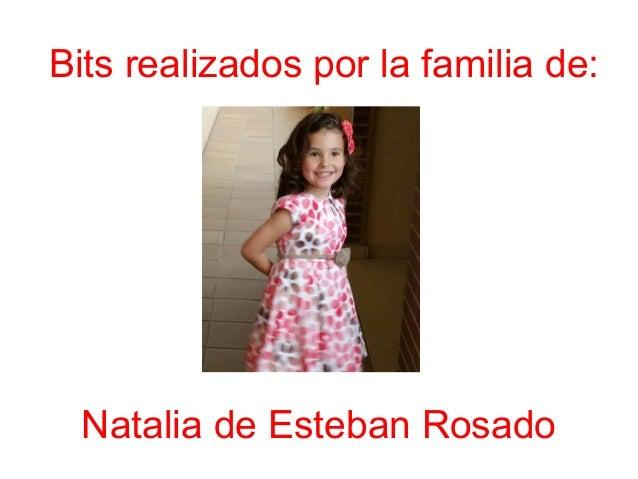 Bits realizados por la familia de: Natalia de Esteban Rosado