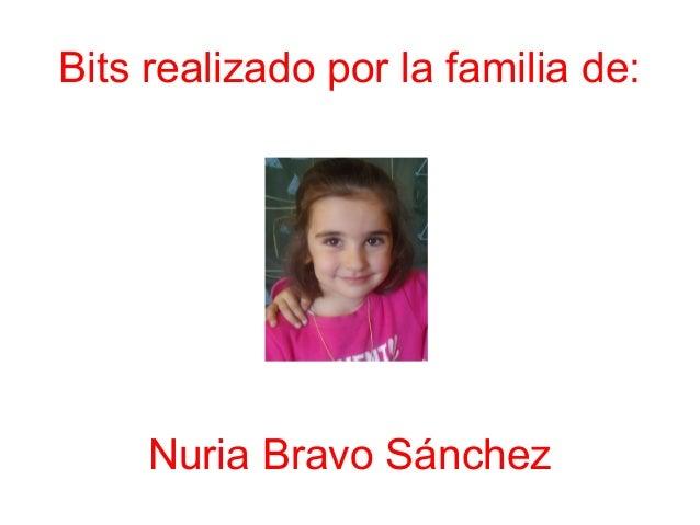 Bits realizado por la familia de: Nuria Bravo Sánchez