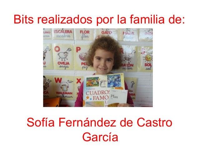 Bits realizados por la familia de: Sofía Fernández de Castro García