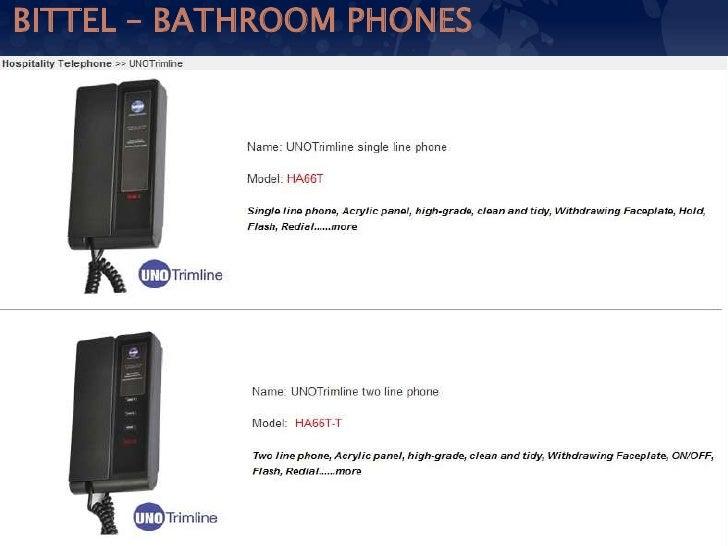14  BITTEL   BATHROOM PHONES. Bittel analog phones for hospitality