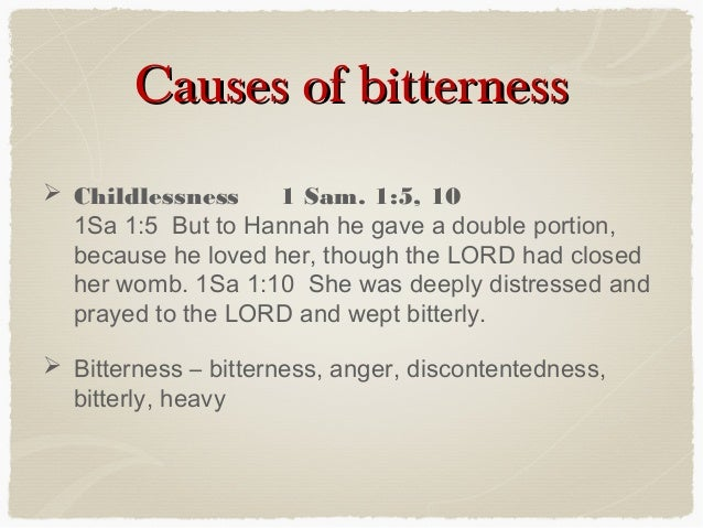 what is the meaning of bitterness