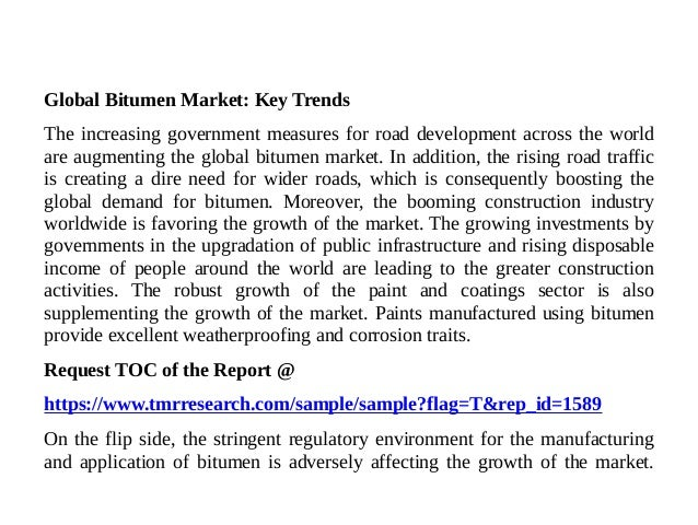 Bitumen Market - Protean Prices of Raw Material 2017 - 2025