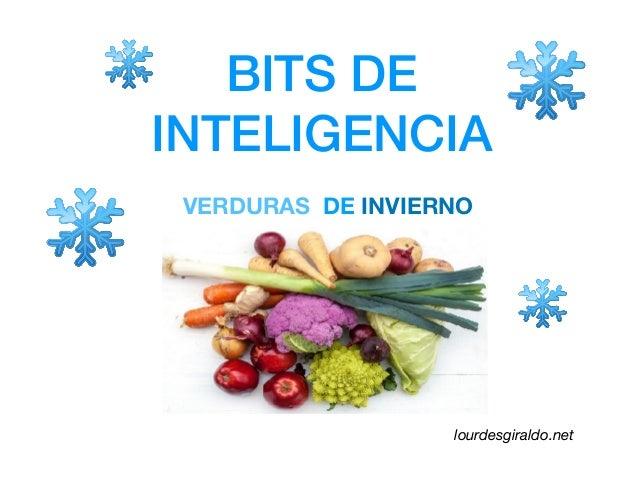 BITS DE INTELIGENCIA VERDURAS DE INVIERNO lourdesgiraldo.net
