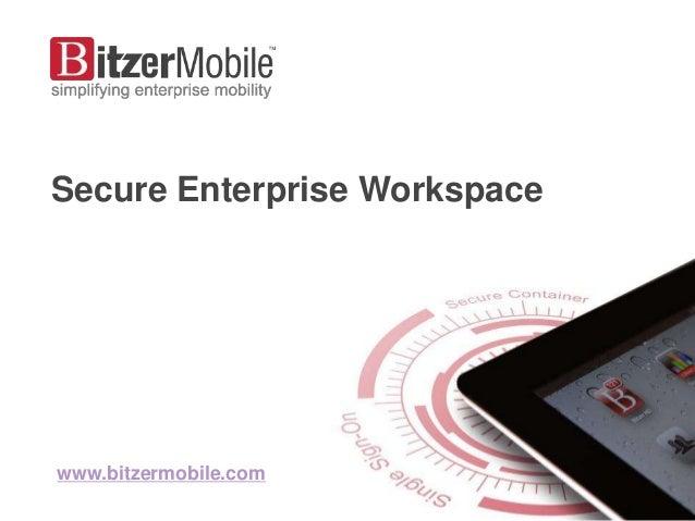 Secure Enterprise Workspacewww.bitzermobile.com