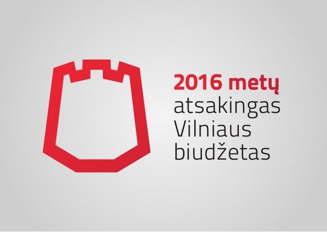 2016 metų atsakingas Vilniaus biudžetas