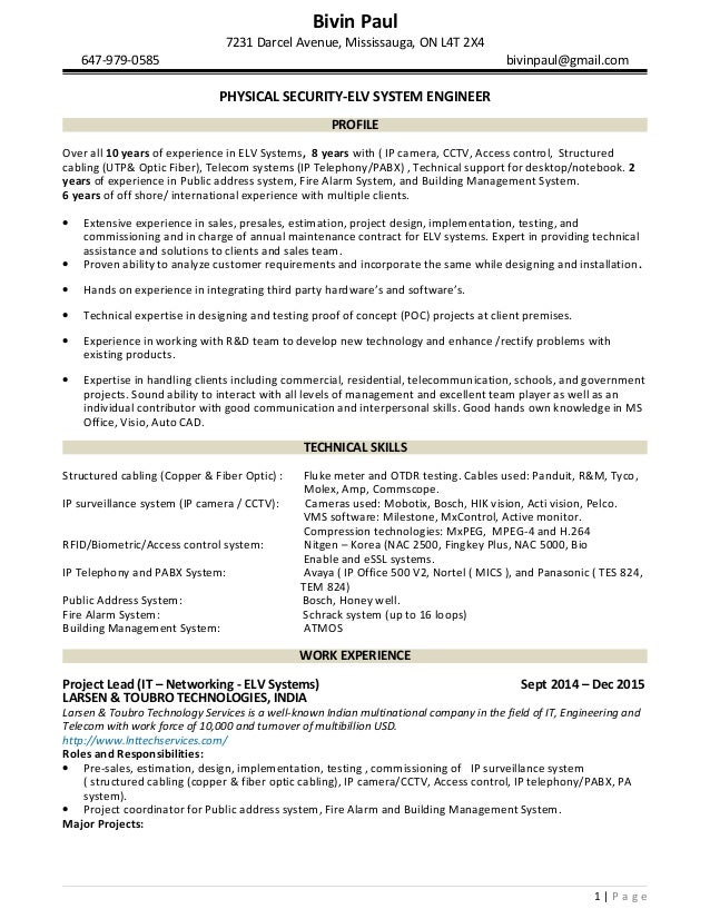 Physical Security Resumes  Template