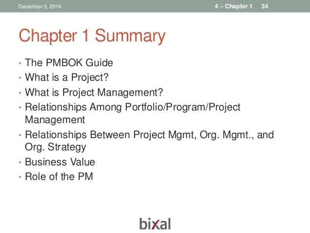 Pmbok chapter 2 summary