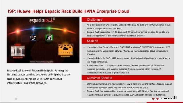 Huawei Solutions for SAP HANA Overview