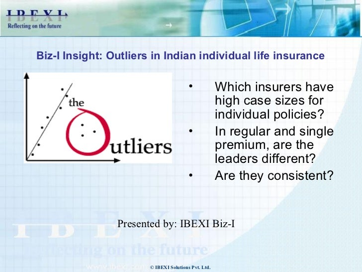 Biz-I Insight: Outliers in Indian individual life insurance                                        •            Which insu...