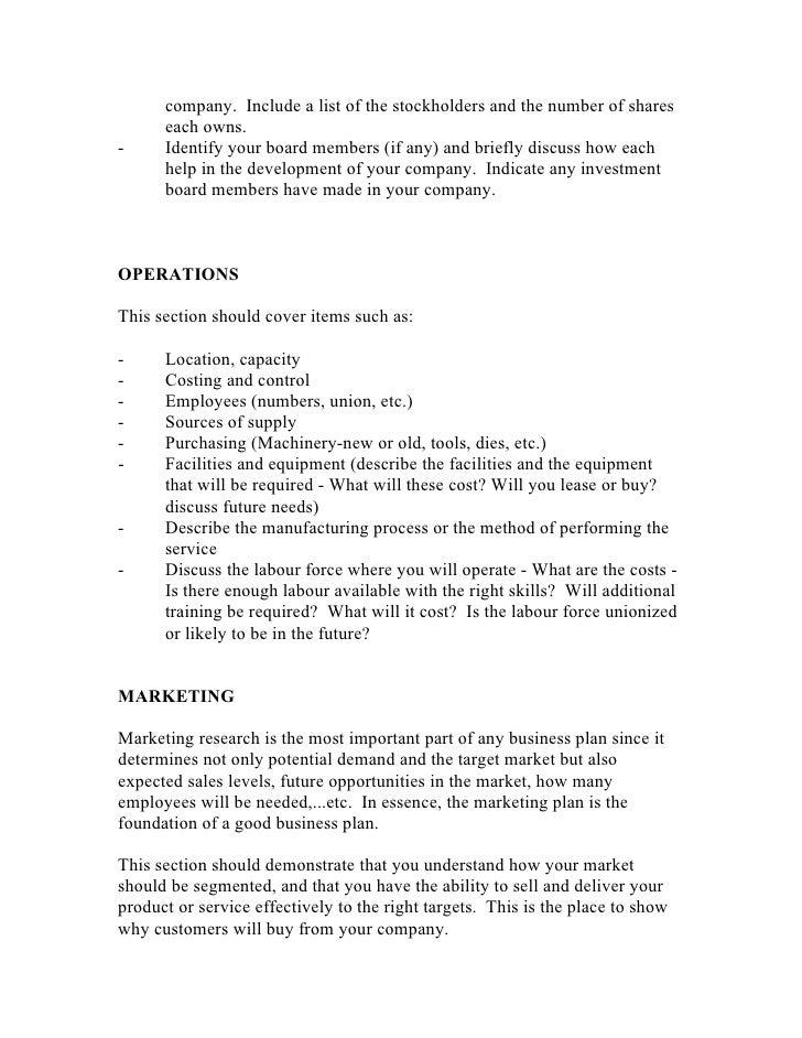 Biz plan template 3 company friedricerecipe Image collections