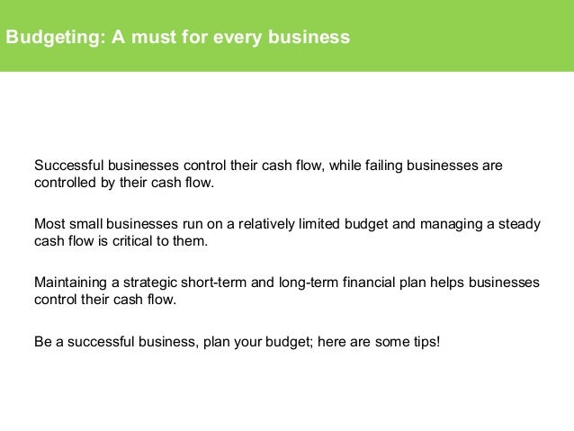 budgeting a must for every business