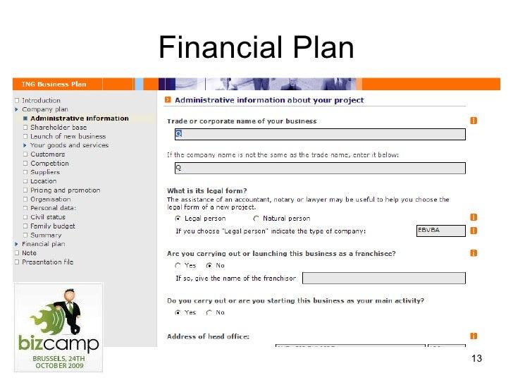 bvba business plan